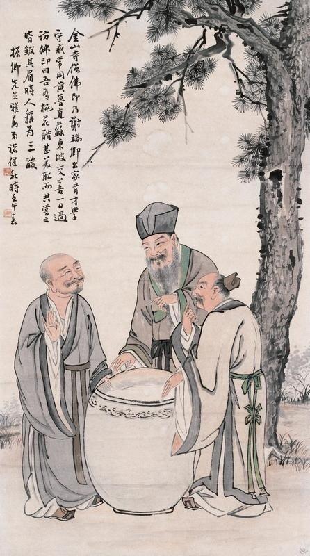 Laozi, Confucio e Buddha