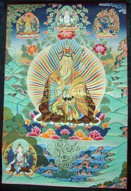 Padmasambhava (VIII sec. d.C.) è il fondatore del Buddhismo Tibetano.
